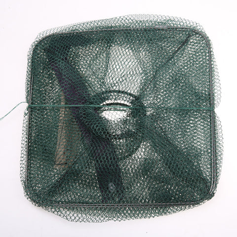 Folding Fishing Net Bait Trap Cast Dip Net Cage Mesh
