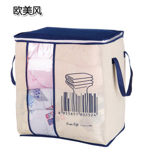 Portable Clothes Storage Bag Organizer Folding Closet