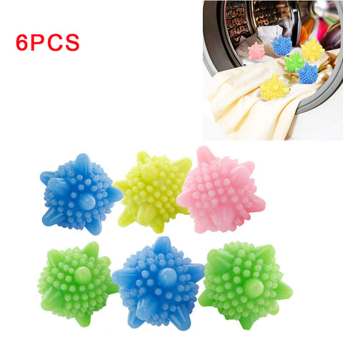 6pcs Colored Detergent Winding Preventing Laundry Washing Ball