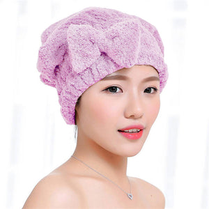 1 PC Girls Quick Hair Drying Towel Head Wrap Bathing Tool