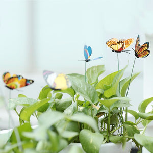 15PCS/Lot Artificial Butterfly Garden Decorations Butterfly Stakes Yard