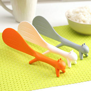 Plastic Non Stick Squirrel Shaped Ladle for Rice and Meal Spoon Kitchen Accessories