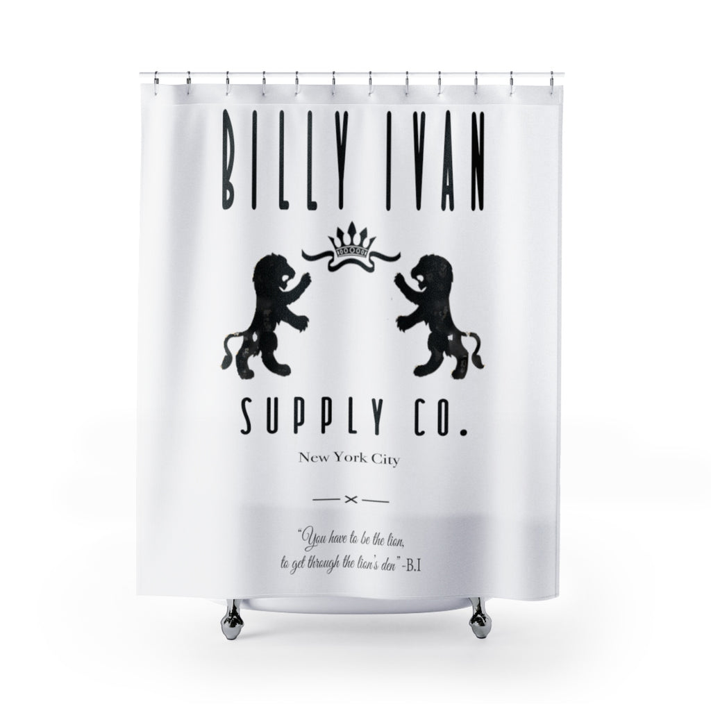 "Billy Ivan "" The Superior Lion"" Shower Curtain"
