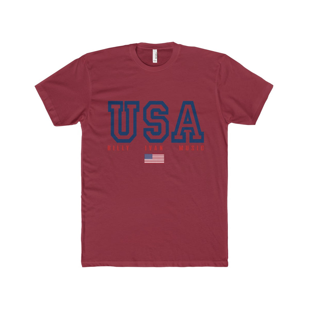 "Men's Premium ""USA"" Billy Sport Crew Neck T Shirt"