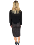 TATUM SKIRT - CHOCOLATE ANIMAL PRINT
