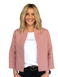 JACKIE O JACKET - BLUSH VINTAGE FINISH LINEN