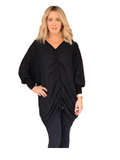 ALL DAY LONG TOP - L/S - BLACK