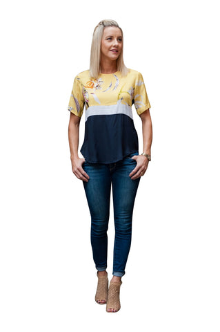 Calypso Panel Top - Yellow
