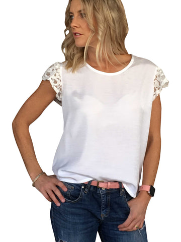 PRICILLA TOP - IVORY LACE