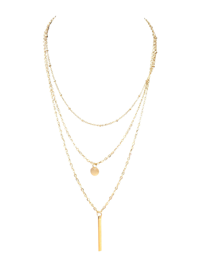 STATEMENT MULTI LAYER NECKLACE - GOLD