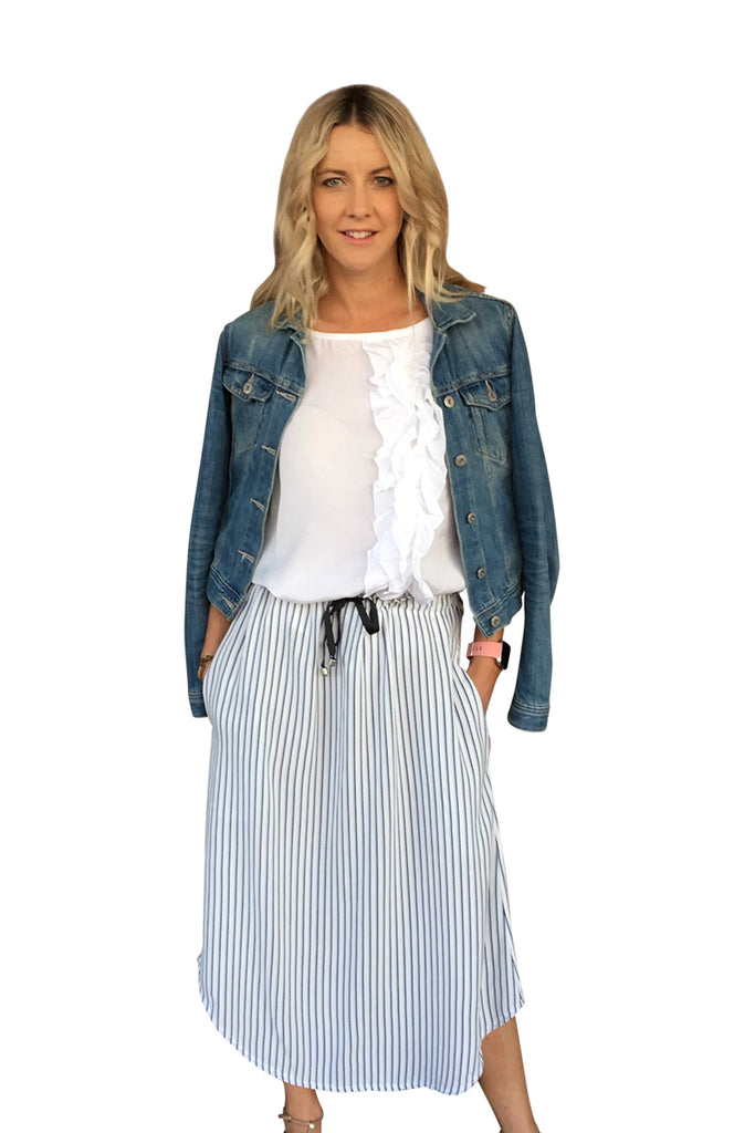 MARLEY SKIRT - STRIPE