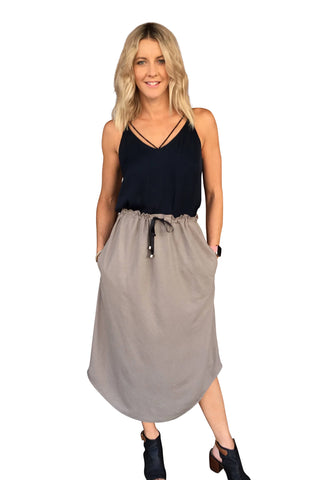 MARLEY SKIRT - BLACK & NAVY