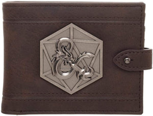 Dungeons & Dragons Barbarian Bifold Wallet with Metal Badge