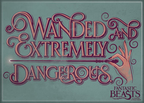 Fantastic Beasts Wanded and Extremely Dangerous Photo Magnet