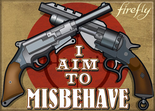 Firefly I Aim to Misbehave Photo Magnet