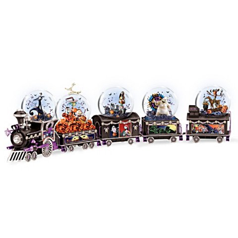 Nightmare Before Christmas Musical Glitter Globe Train