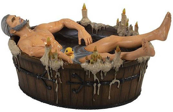 The Witcher 3 Geralt in Bathtub statuette