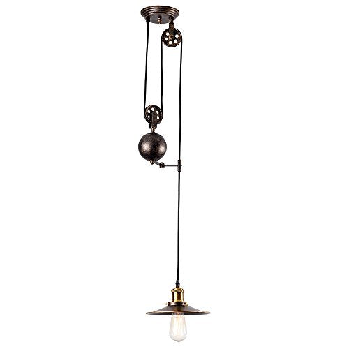 Industrial Adjustable Pulley Chandelier