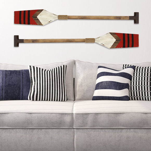 Striped unique Nautical Oar Wall Decor