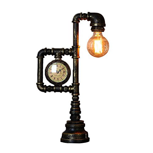 Lamp & Clock Steampunk Duo
