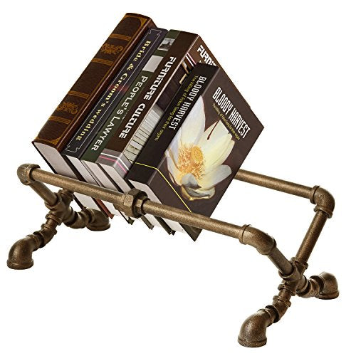 Cast Iron Piping Table Top Book Rack