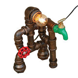 Microphone Performing Steampunk Industrial Table Lamp