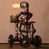 Bike / Cart Riding Steampunk Industrial Desk Lamp