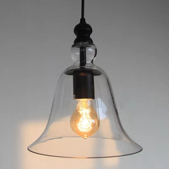 Adjustable Cord Clear Glass Edison Pendant with Bulb