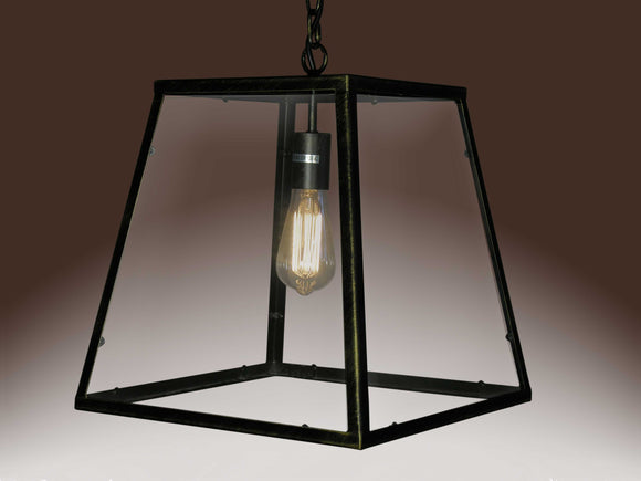 Hanging Black Edison Lamp with Bulb Modern and Unique