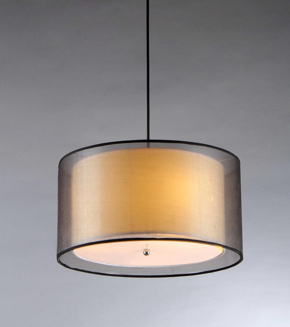 3-light Double Drum Shade Pendant