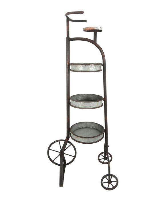Vintage Style Metal Tricycle Planter Stand
