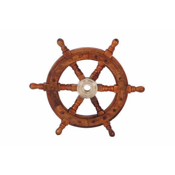 Small Ship Wheel, Maritime Majestic Nautical Home Decor