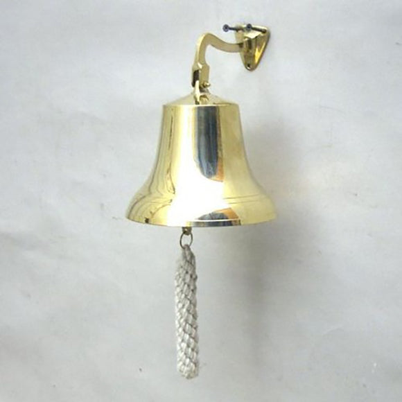 Greek Ship Bell Etched Artifact Nautical Decor