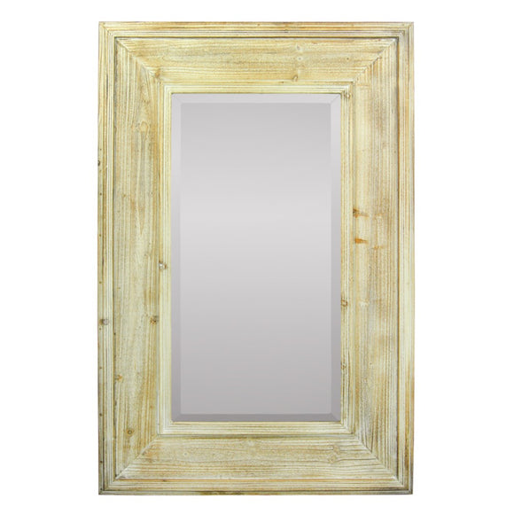 Rustic Mirror In Wooden Frame, Brown
