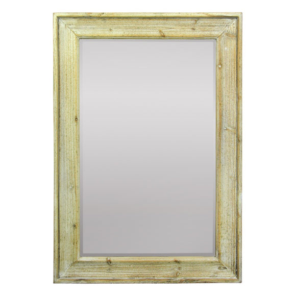 Mirror In Wooden Frame, Brown