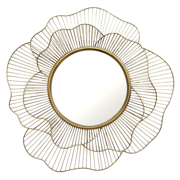 Unique Flowing Flower Shape Wall Mirror