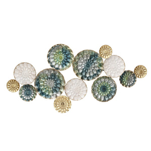 Multi-color Textured Plates Metal Wall Decor