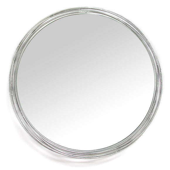 Round Silver Statement Wall Mirror