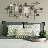 Extra Large Modern Industrial Metal and Wood Wall Decor