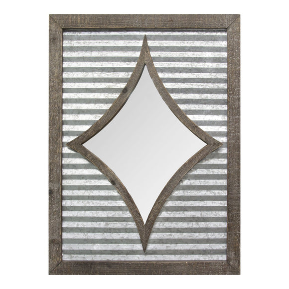 Galvanized Rustic And Charming Wall Mirror Farmhouse Chic