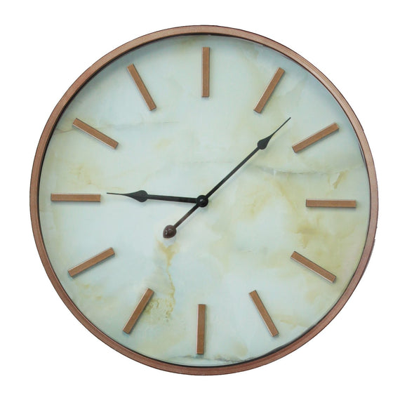 Modern Style Copper Marble Wall Clock