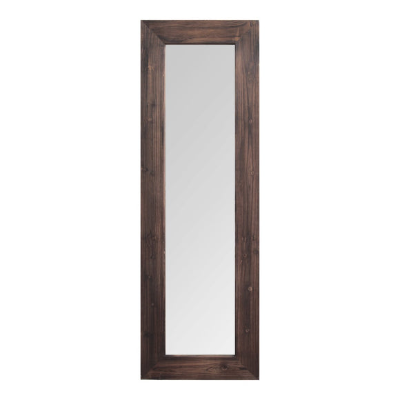 Dark Natural Wood Long-Length Design Mirror