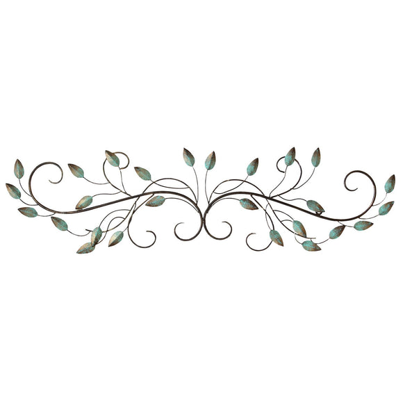 Patina Scroll Leaf Wall Decor