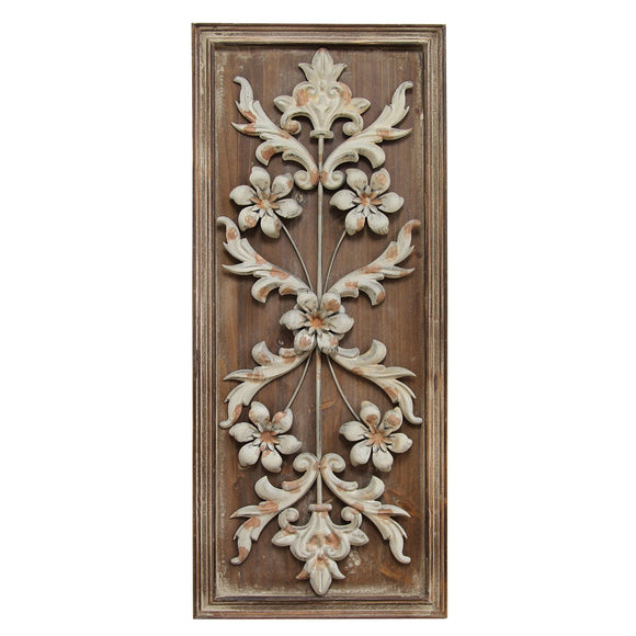 Natural Wood Vintage Panel Wall Decor