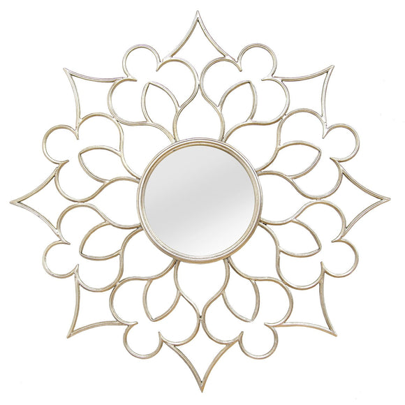 Silver Solid Metal Wall Mirror