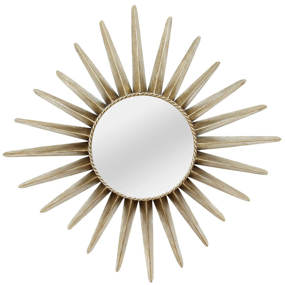 Bronze Round Sunburst Wall Mirror