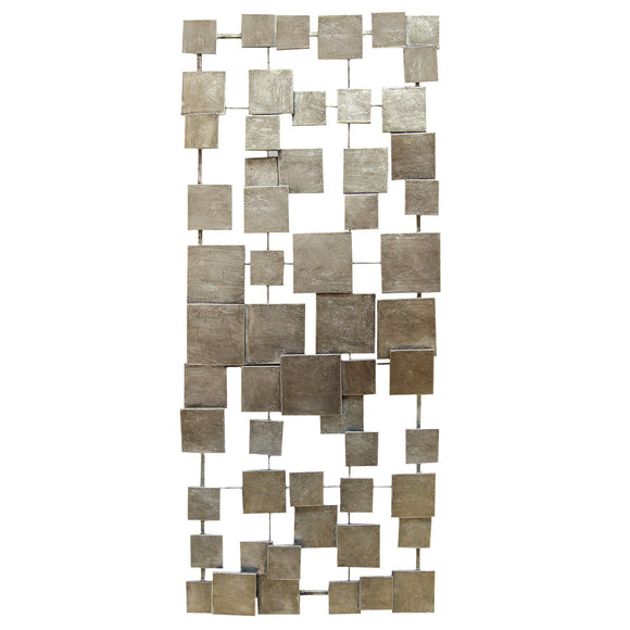 Champagne Geometric Tiles Wall Decor