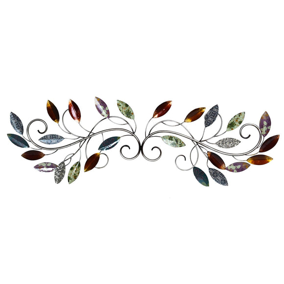 Multi Leaf Scroll Wall Decor Hand Crafted Color and Pattern