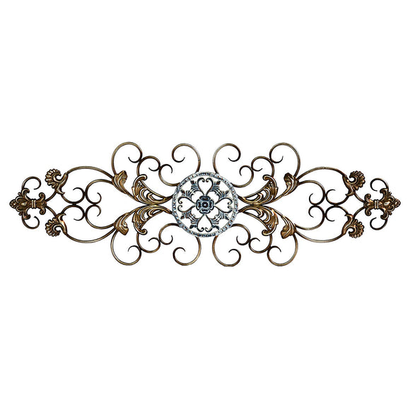 Champagne Traditional Scroll Wall Decor