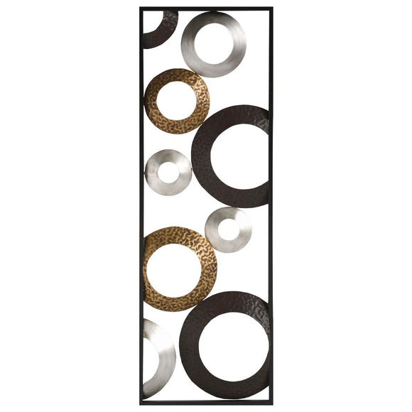 Metallic Geometric Panel Wall Decor